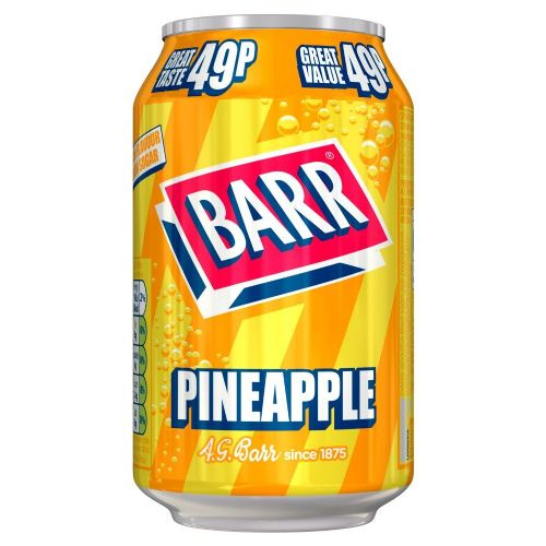Barr Pineapple 49p 330ml Can (UK)